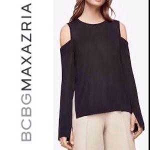BCBG MAXAZRIA Cold Shoulder Lightweight Sweater